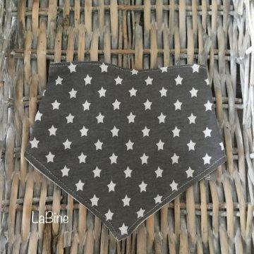 Baby Dreieckstuch Halstuch Pinguin grau