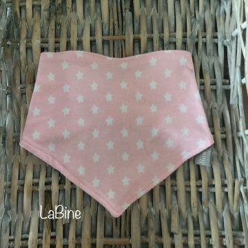 Dreieckstuch Baby Sterne rosa