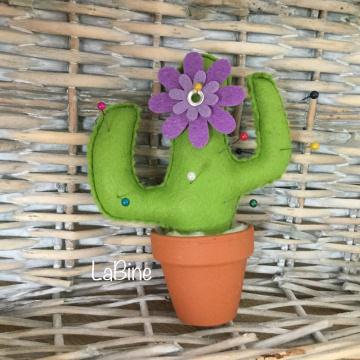 Nadelkissen Tontopf Filz Kakteen Kaktus