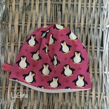Babymütze Pinguin Pink
