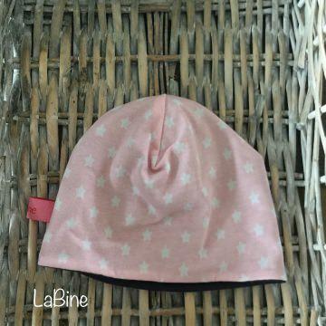 Babymütze Sterne rosa blau
