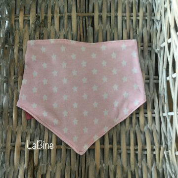 Dreieckstuch Baby Sterne rosa grau
