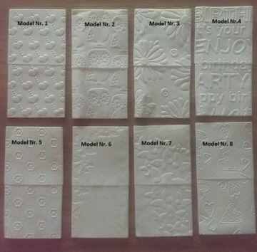 50 geprägte Taschentücher - 41 Motive