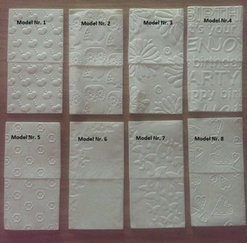 80 geprägte Taschentücher / Freudentränen - 41 Motive