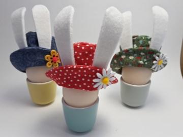 Osterhasen-Hütchen, Eierwärmer fürs Osterfrühstück
