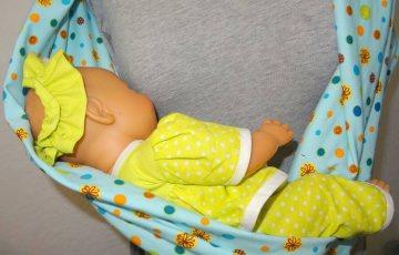 Still-Loop aus Baumwolljersey. Praktisch zum Stillen des Babies auf Reisen oder beim Einkaufen.