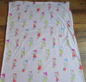 Babydecke zum Kuscheln, Schlafen oder für den Kinderwagen aus Baumwolle mit Plüschunterseite