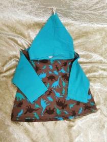 Langarmshirt mit Zipfelmütze ´Dinos´ Gr. 74/80 - Handarbeit kaufen