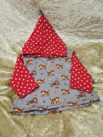 Langarmshirt mit Zipfelmütze´Tiger´ Gr. 74/80 - Handarbeit kaufen