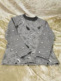 Langarmshirt ´Musikinstrumente´Gr. 122/128 - Handarbeit kaufen
