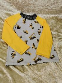 Langarmshirt `Baustelle´ Gr. 110/116  - Handarbeit kaufen