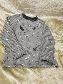 Langarmshirt ´Musikinstrumente´Gr. 110/116 - Handarbeit kaufen