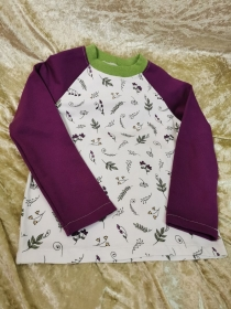 Langarmshirt ´Natur´ Gr. 110/116 - Handarbeit kaufen