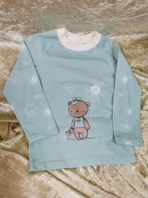 Langarmshirt `Sonnenscheinbär` Gr. 86/92 - Handarbeit kaufen