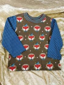 Langarmshirt ´Fuchs´ Gr. 86/92 - Handarbeit kaufen