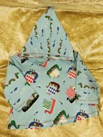 Langarmshirt mit Zipfelmütze ´Wikinger` Gr. 74/80 - Handarbeit kaufen