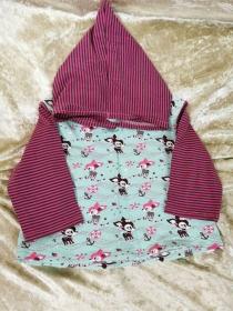 Langarmshirt mit Zipfelmütze ´Hafenkitz´ Gr. 74/80 - Handarbeit kaufen