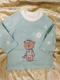 Langarmshirt `Sonnenscheinbär` Gr. 62/68 - Handarbeit kaufen