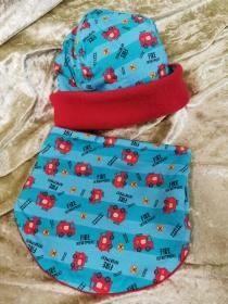 Kinder Mütze & Halssocke Set Gr. 1 - Handarbeit kaufen