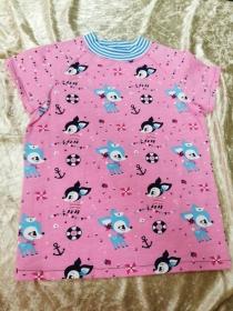 Kombi T-Shirt & Rock ´Hafenkitz rosa´ Gr. 122/128 - Handarbeit kaufen