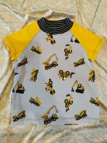 T-Shirt ´Baustellenfahrzeuge´ Gr. 86/92 - Handarbeit kaufen