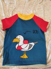 T-Shirt ´Möwe Bob´ Gr. 86/92 - Handarbeit kaufen