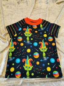 T-Shirt ´Kitsch me if you can: Space Trolls´ Gr. 86/92 - Handarbeit kaufen