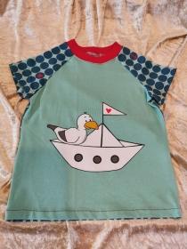 T-Shirt ´Möwe Bob´ Gr. 110/116 - Handarbeit kaufen