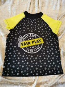 T-Shirt ´Fair Play´ Gr. 110/116 - Handarbeit kaufen