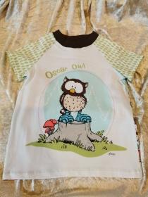T-Shirt ´Oscar Owl´ Gr. 110/116 - Handarbeit kaufen
