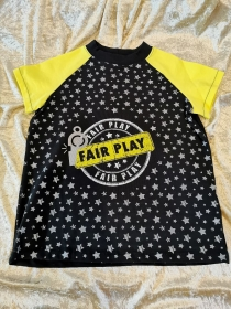 T-Shirt ´Fair Play´ Gr. 122/128 - Handarbeit kaufen