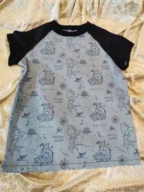 T-Shirt ´Schatzkarte´ Gr. 122/128 - Handarbeit kaufen