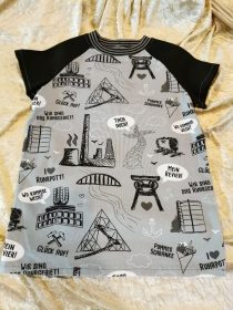 T-Shirt ´Ruhrpott´ Gr. 134/140 - Handarbeit kaufen