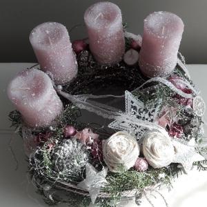 Adventskranz Adventsgesteck romantische weihnachtliche Adventszeit