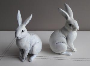 Reserviert für Silvia Tischdeko Frühling Ostern Hasenpaar