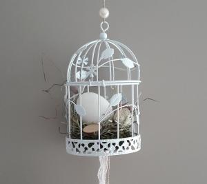 Hängedeko Frühling Fensterdeko Wohnraumdeko Vogelkäfig Vogelfrei