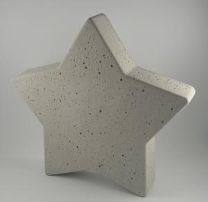 Stern aus Beton Tischdeko Weihnachten/Advent
