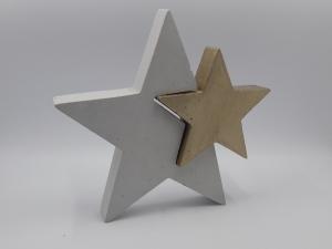 Sterne aus Beton 2er Set Stern in Stern farbig - Farbe auswählbar