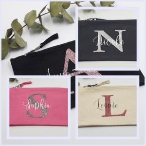 Accessoiretäschchen Kosmetiktäschchen personalisiert mit Initial und Namen