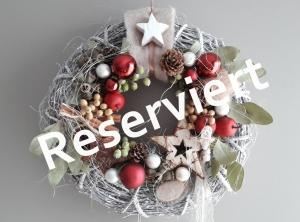 Weihnachtliches Dekorationspaket reserviert für Verena
