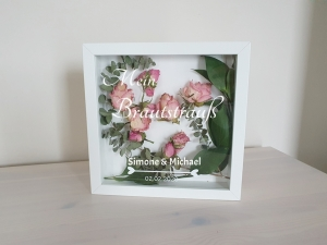 Brautstrauß Bilderrahmen Erinnerung Blumenstrauß Deko personalisiert