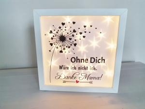 Beleuchteter Bilderrahmen Danke Mama Geschenk für Muttertag