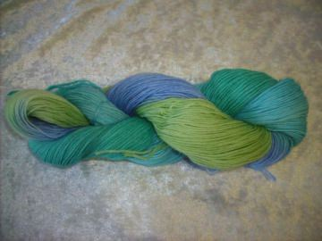 100 gr. handgefärbte Sockenwolle 4 fädig Am See entlang