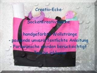 Creativ-Ecke Sockenkreativtasche