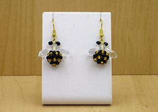 Bienen-Ohrringe aus Rocailles und Glasschliffperlen - Handarbeit kaufen