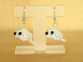 Robbenbaby-Ohrringe aus Rocailles - Handarbeit kaufen