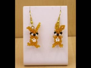Hasen - Ohrringe aus Rocailles