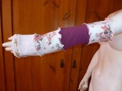 genähte Armstulpen aus Jerseyresten, Upcycling,Recycling