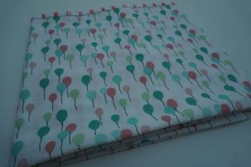 Baumwoll-Loop pastell mit Jersey / sommerlicher Schal mit Ballons + Streifen * handgenäht