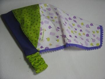 Kopftuch 'lila Bäumchen' - aus Baumwolle handgenäht -  für große Mädchen